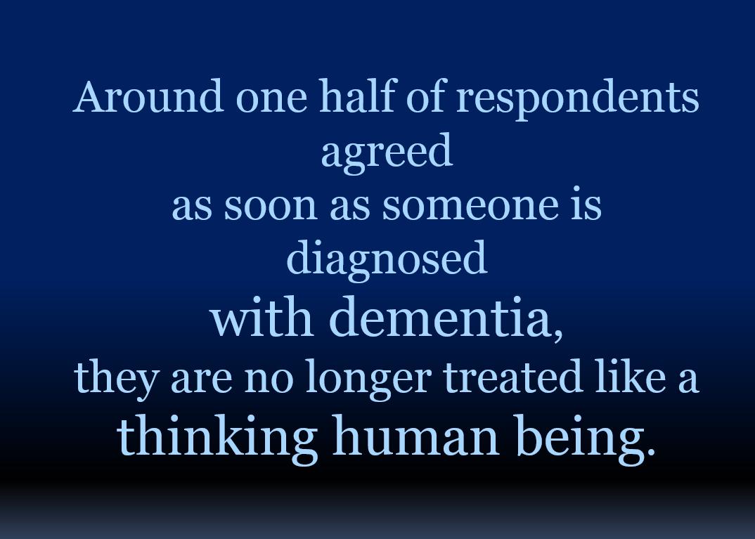 Dementia Not Human